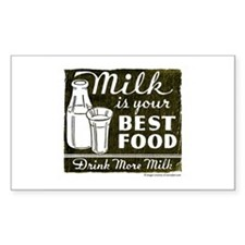 Milk Is Your Best Food Rectangle Decal