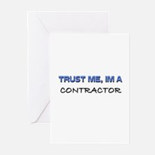 Trust Me I'm a Contractor Greeting Cards (Pk of 10
