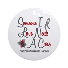 Someone I Love 1 Butterfly 2 PD Ornament (Round)