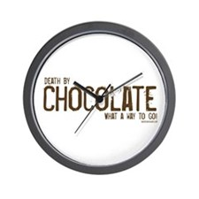 Death by Chocolate...what a w Wall Clock