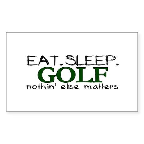 Eat Sleep Golf Rectangle Sticker