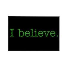 I Believe (Alien) Rectangle Magnet