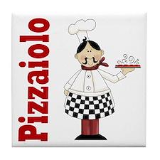 Pizzaiolo Italian Chef Tile Coaster
