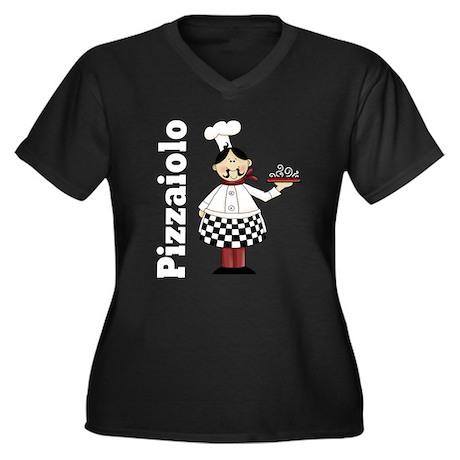 Pizzaiolo Italian Chef Women's Plus Size V-Neck Da