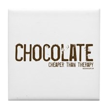 Chocolate...Cheaper than Ther Tile Coaster