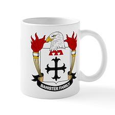 Banister Family Crest Small Mugs
