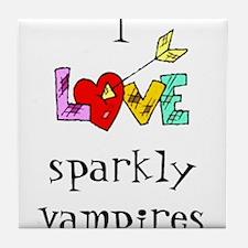 Twilight Sparkly Vampire Tile Coaster