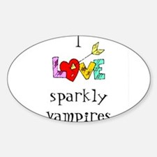Twilight Sparkly Vampire Oval Decal