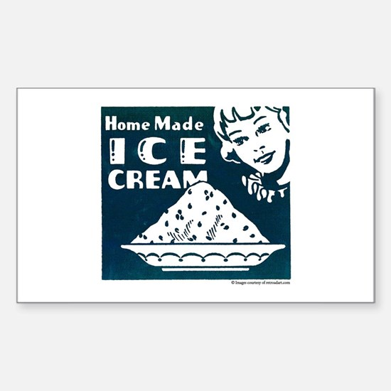 Home Made Ice Cream Rectangle Decal