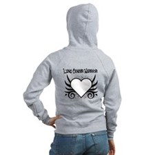 Lung Cancer Warrior Zip Hoodie