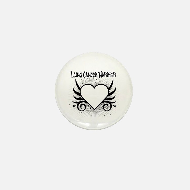 Lung Cancer Warrior Mini Button