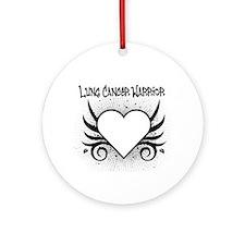 Lung Cancer Warrior Ornament (Round)