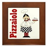Pizza Chef Framed Tile