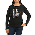 Pizza Chef Women's Long Sleeve Dark T-Shirt