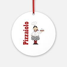 Pizza Chef Ornament (Round)