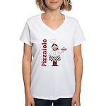 Pizza Chef Women's V-Neck T-Shirt