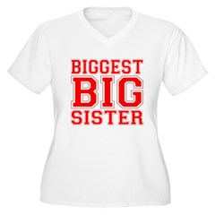 Biggest Big Sister Varsity T-Shirt