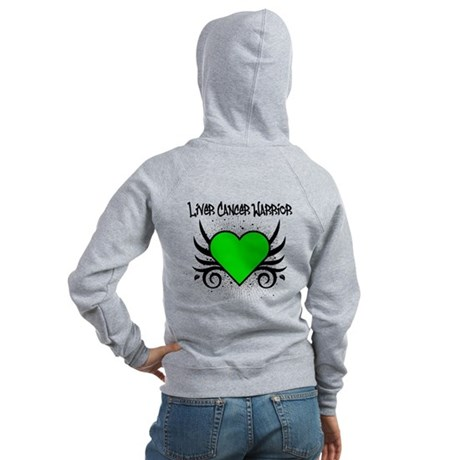 Liver Cancer Warrior Women's Zip Hoodie