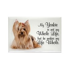 He's my Yorkie Rectangle Magnet