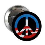"""Obama-Style Peace Sign 2.25"""" Button"""