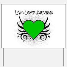 Liver Cancer Awareness Yard Sign