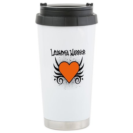 Leukemia Warrior Tattoo Stainless Steel Travel Mug
