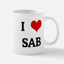 I Love SAB Small Small Mug