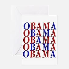 ObamaObamaObama Greeting Card