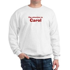 Personalized Carol Sweatshirt