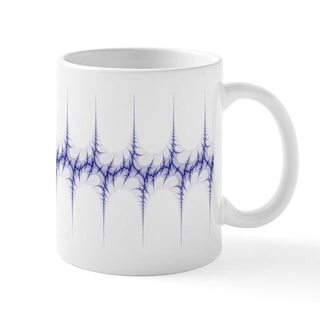 'Fracture' Fractal Mug (blue and white)