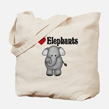 I love Elephants Tote Bag