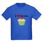 I love Cupcakes Kids Dark T-Shirt