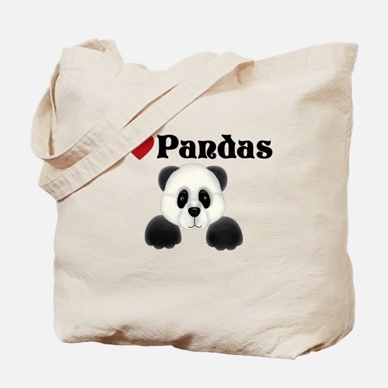 I love pandas Tote Bag