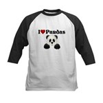 I love pandas Kids Baseball Jersey