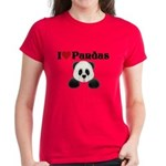 I love pandas Women's Dark T-Shirt