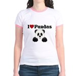 I love pandas Jr. Ringer T-Shirt