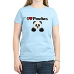 I love pandas Women's Light T-Shirt