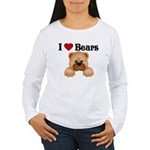 I love Bears Women's Long Sleeve T-Shirt