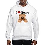 I love Bears Hooded Sweatshirt