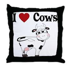 I Love Cows Throw Pillow