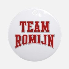 Team Romijn Personalized Custom Ornament (Round)