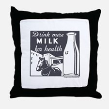 Drink More Milk For Health Throw Pillow