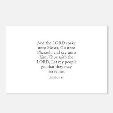 EXODUS  8:1 Postcards (Package of 8)