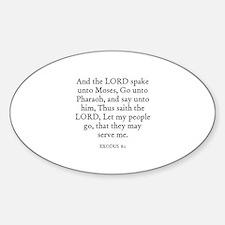 EXODUS 8:1 Oval Decal