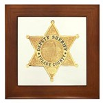 Tulare County Sheriff Framed Tile