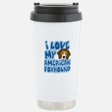 I Love my American Foxhound Stainless Steel Travel
