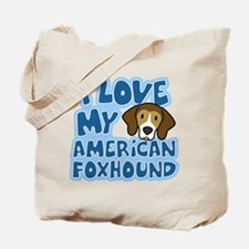 I Love my American Foxhound Tote Bag