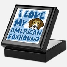 I Love my American Foxhound Keepsake Box
