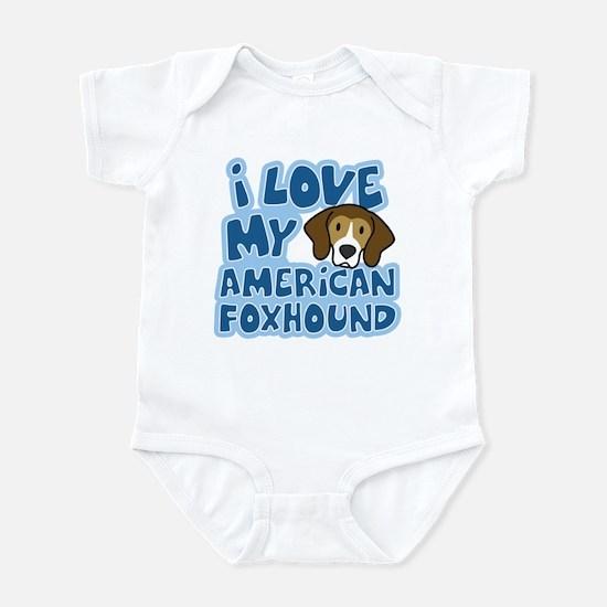 I Love my American Foxhound Infant Bodysuit