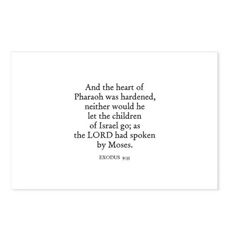 EXODUS 9:35 Postcards (Package of 8)